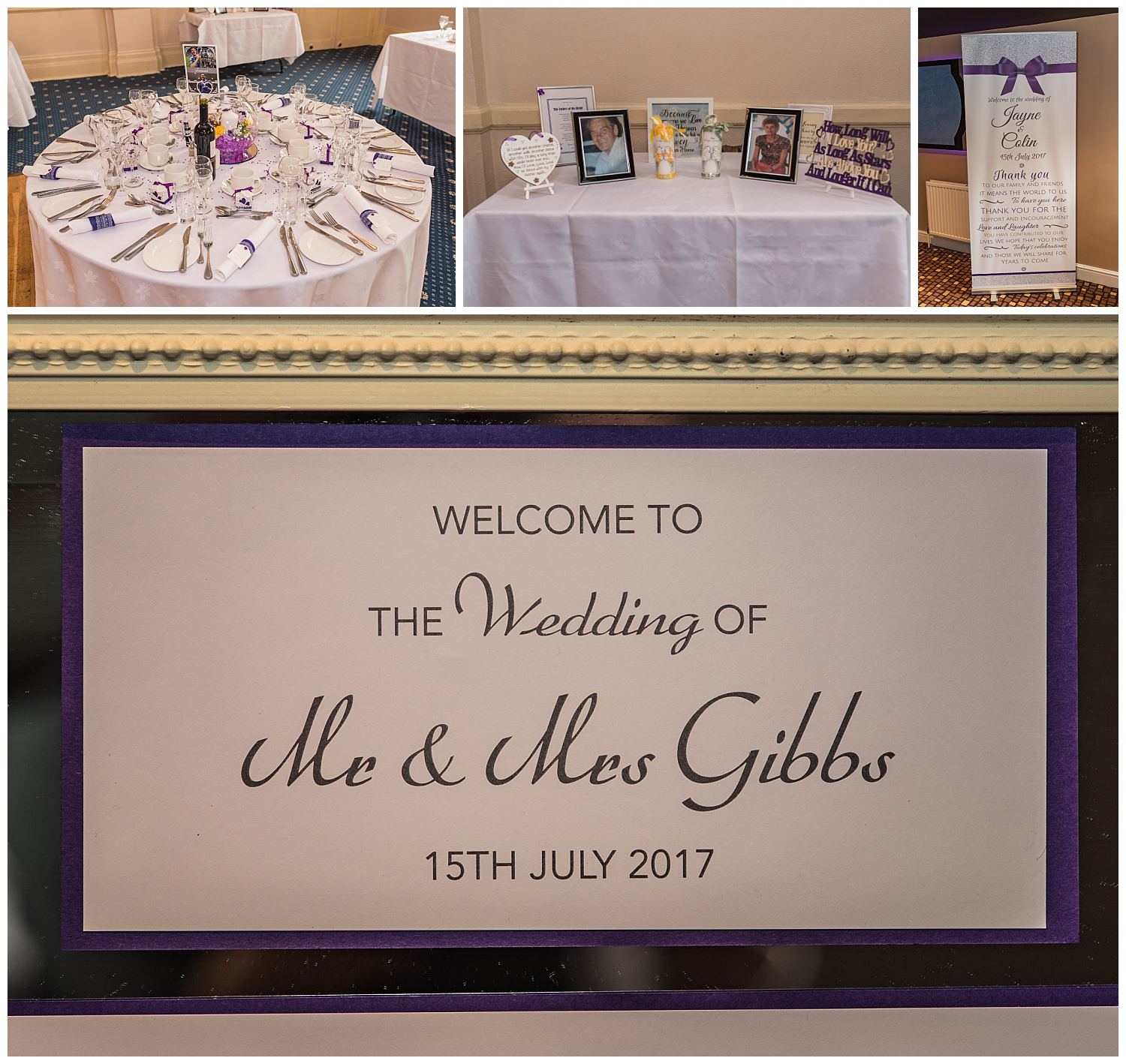 wedding reception details at glenmore house