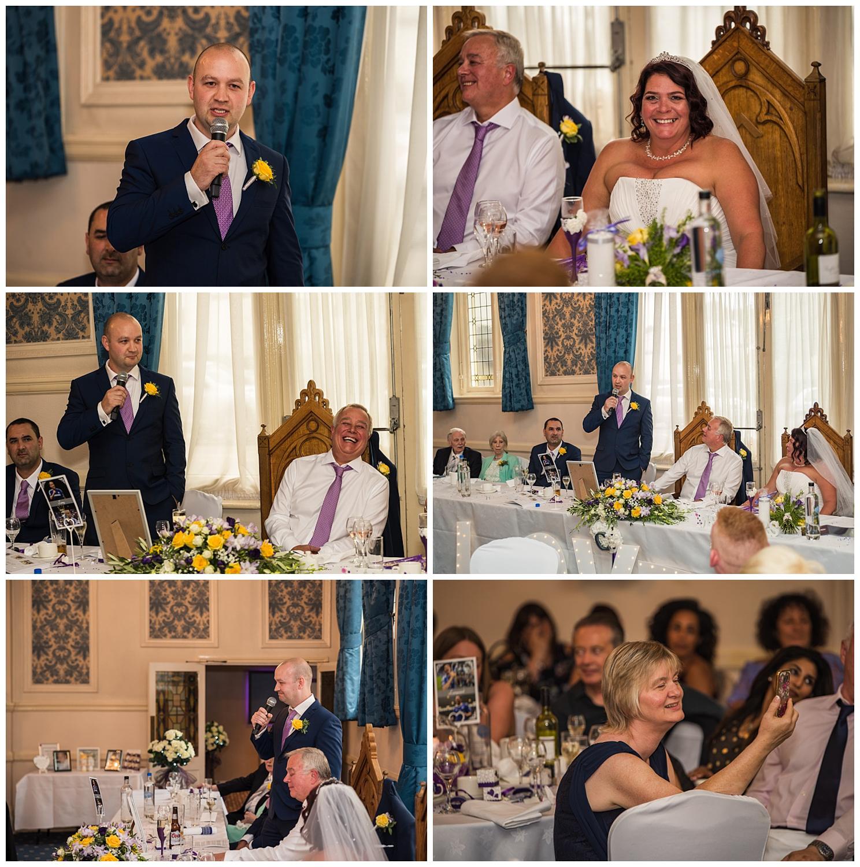 Best man speech during wedding reception
