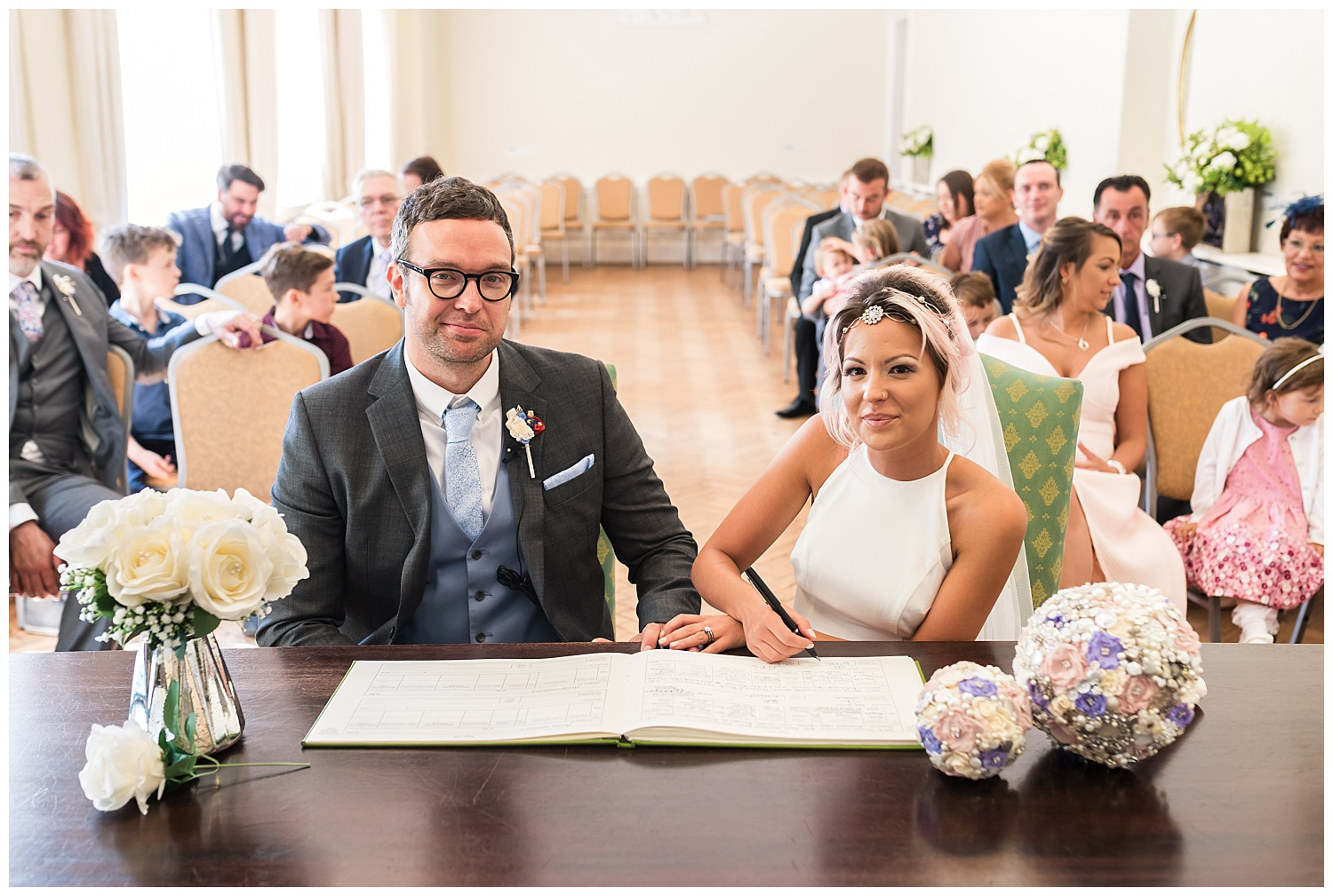 Signing register at York House Wedding