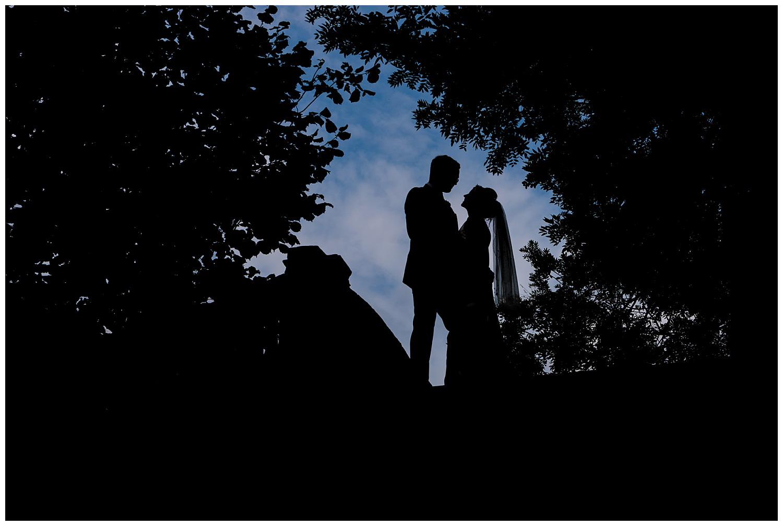 Bride and Groom portraits in York House Gardens | Richmond wedding