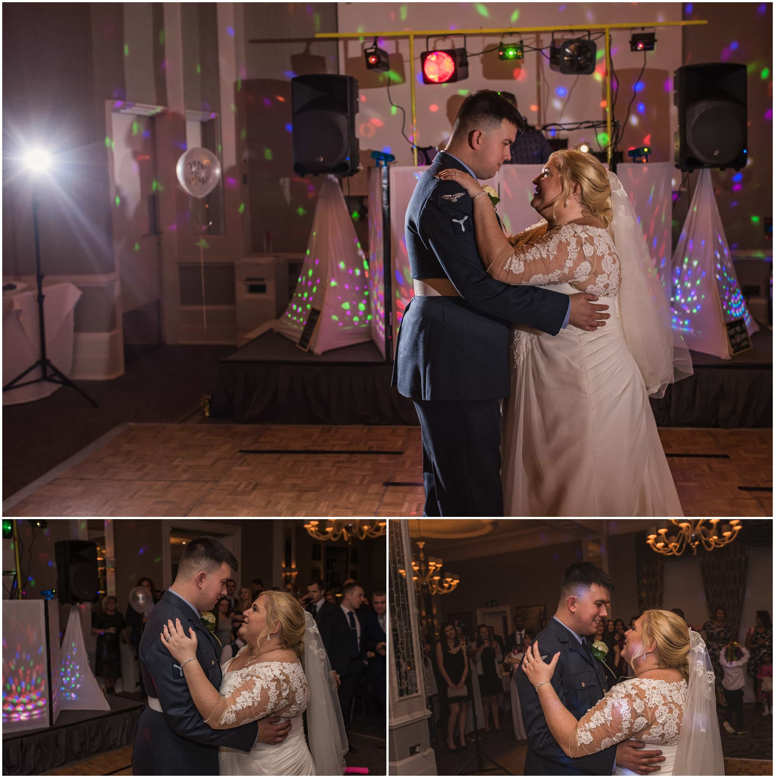 Bride and Groom celebrate with their first dance