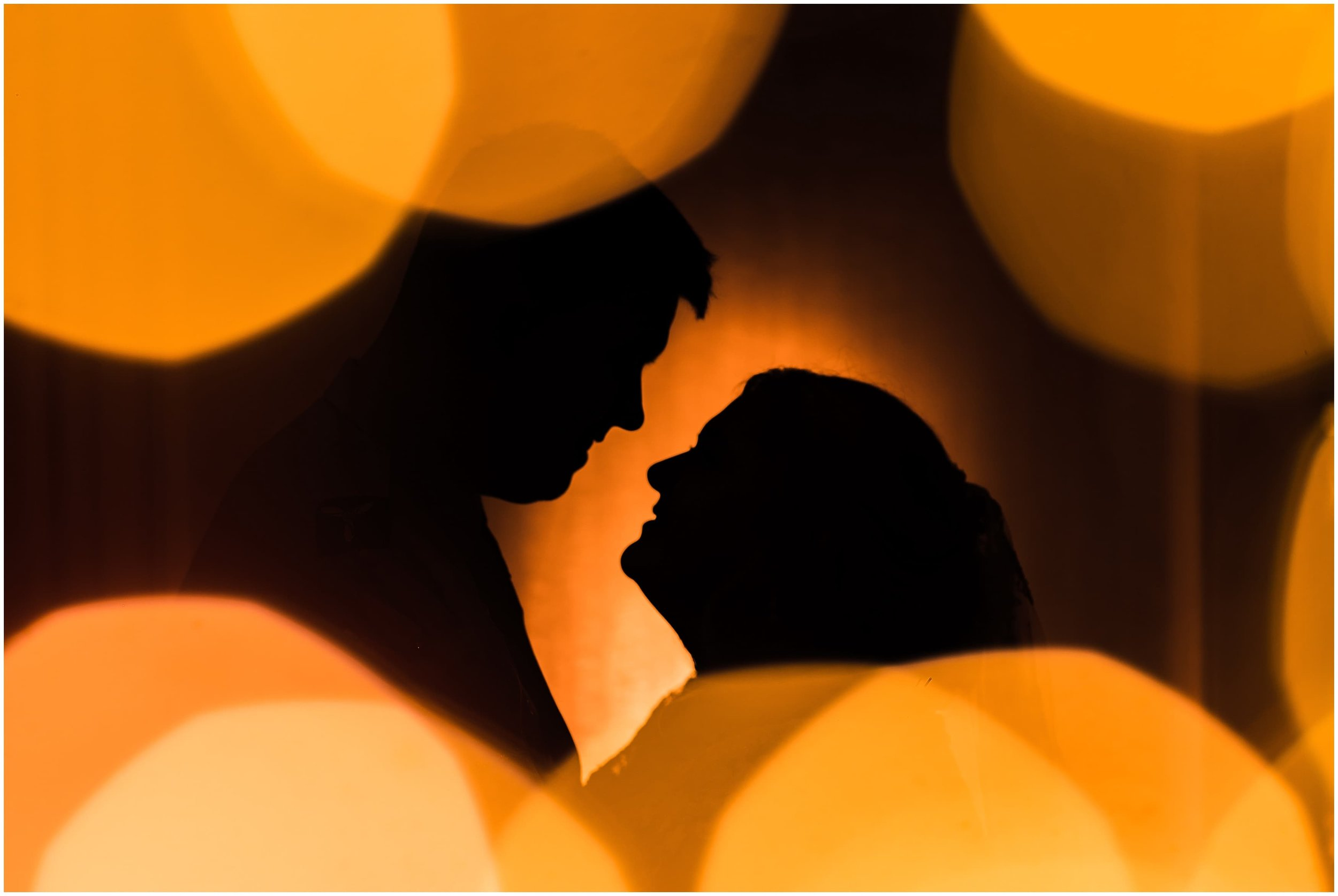 Twilight shoot creative portrait of Bride and Groom