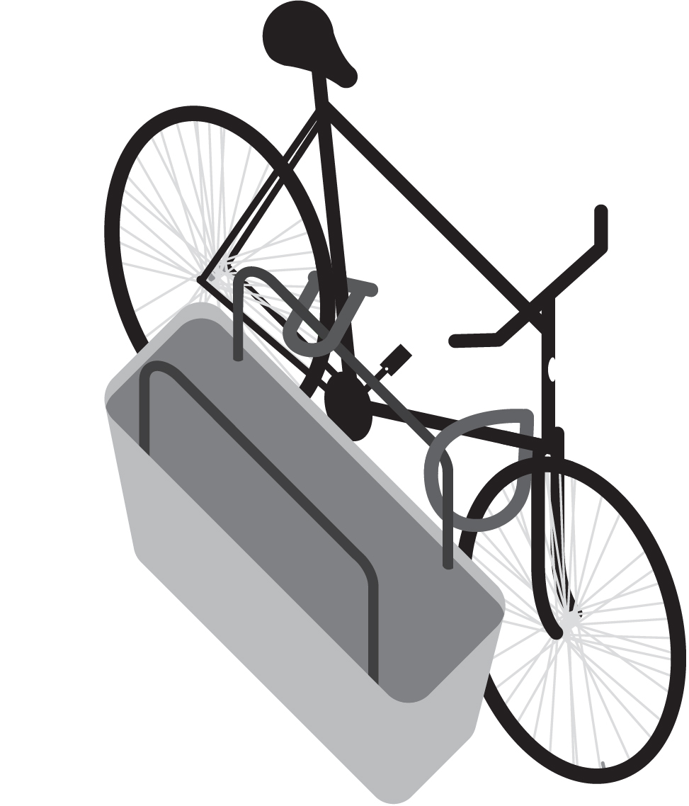 Secure cycle parking for 1 or 2 bicycles.