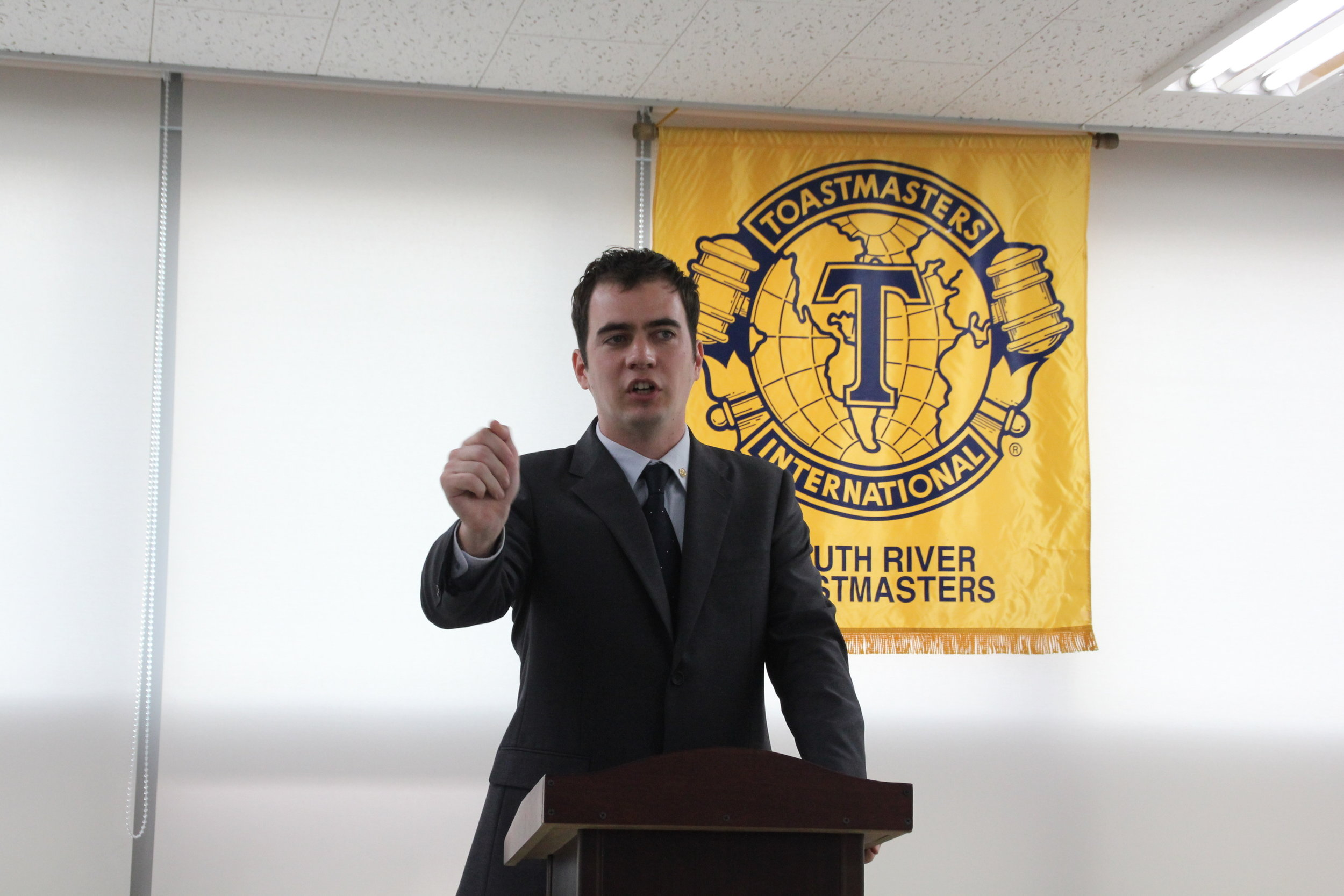 President of South River Toastmasters