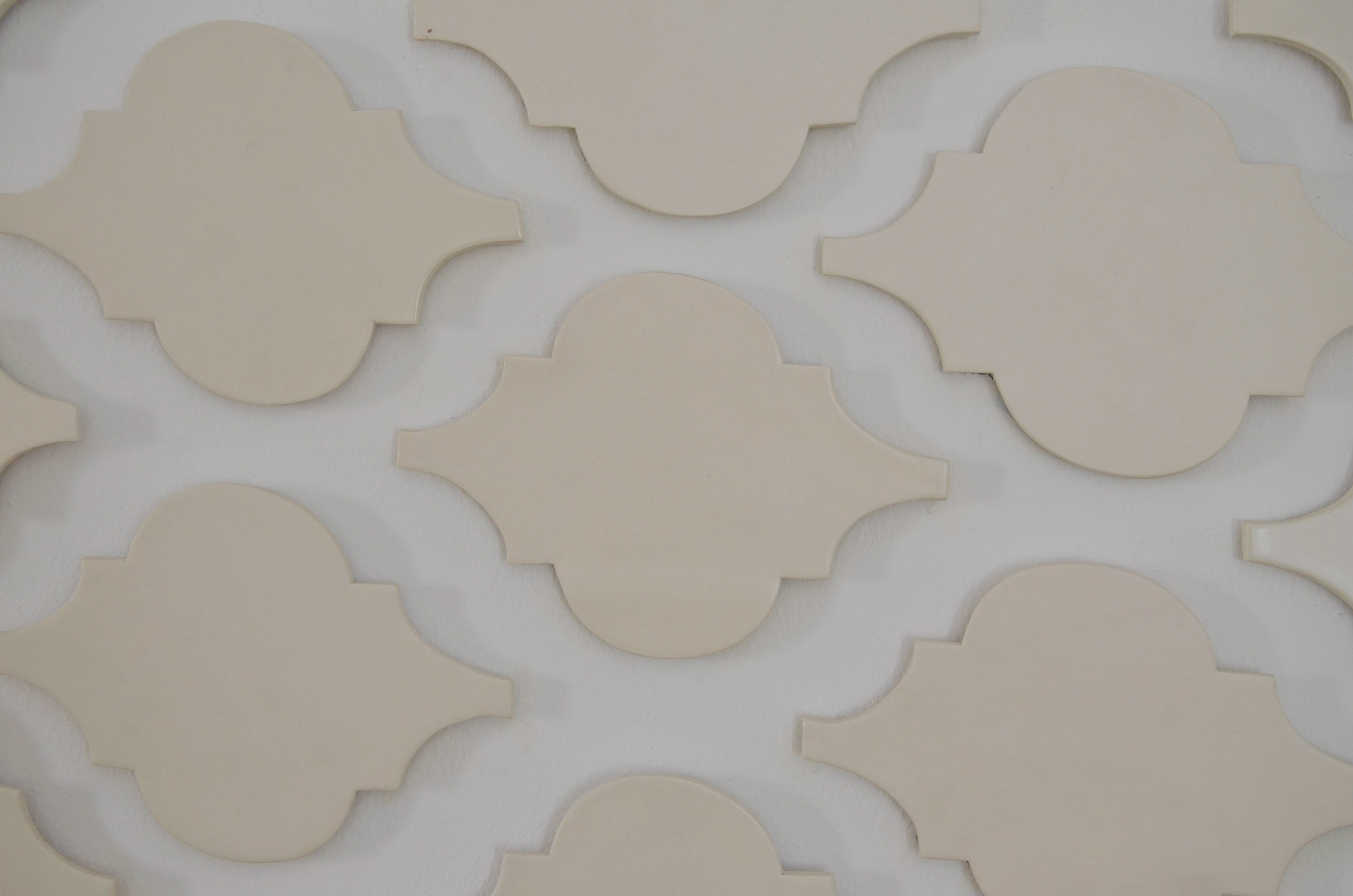 """Something in the house""detail, 2016 ceramic tile 300x700cm"