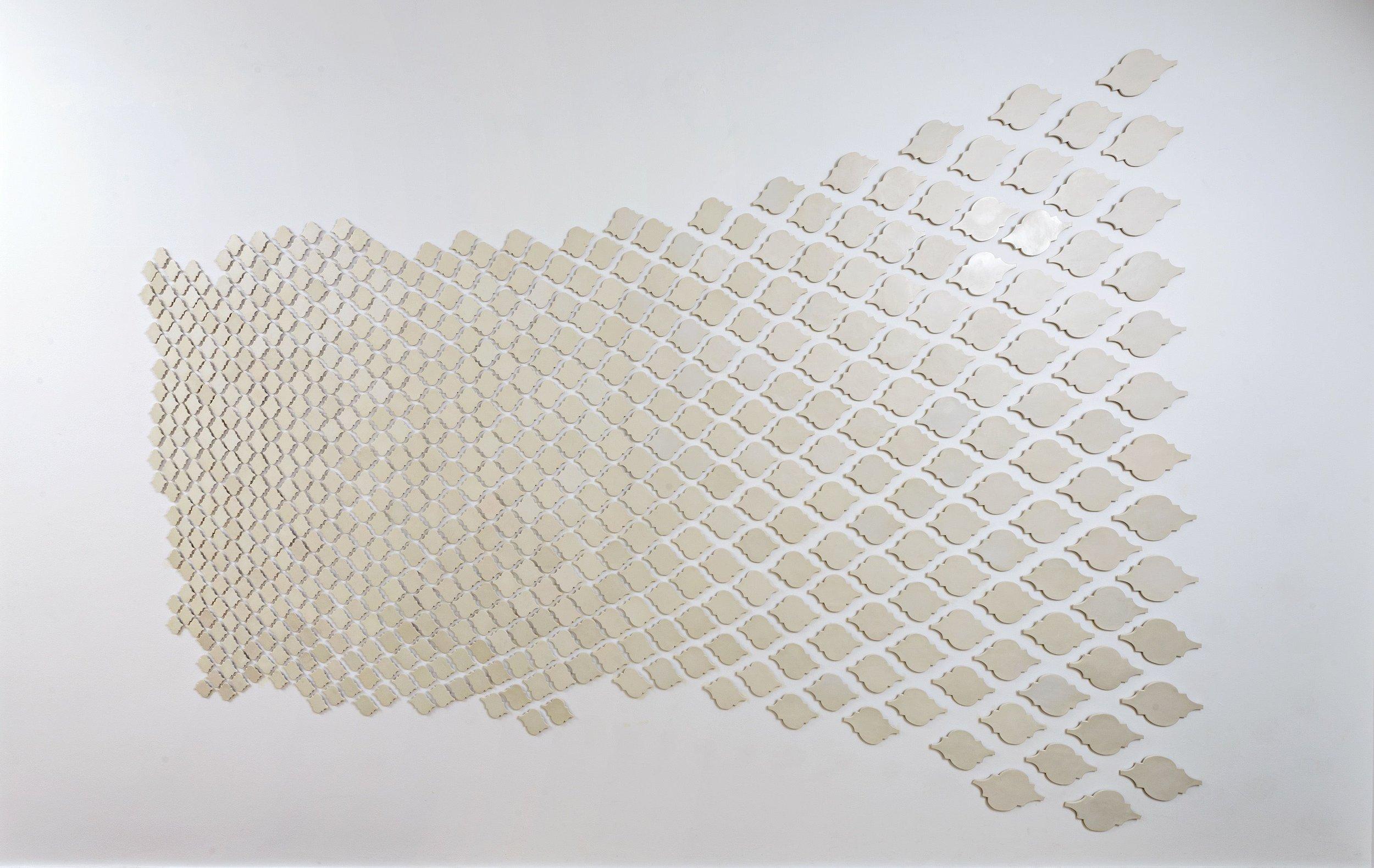 """Something in the house"", 2016 ceramic tile 300x700cm"