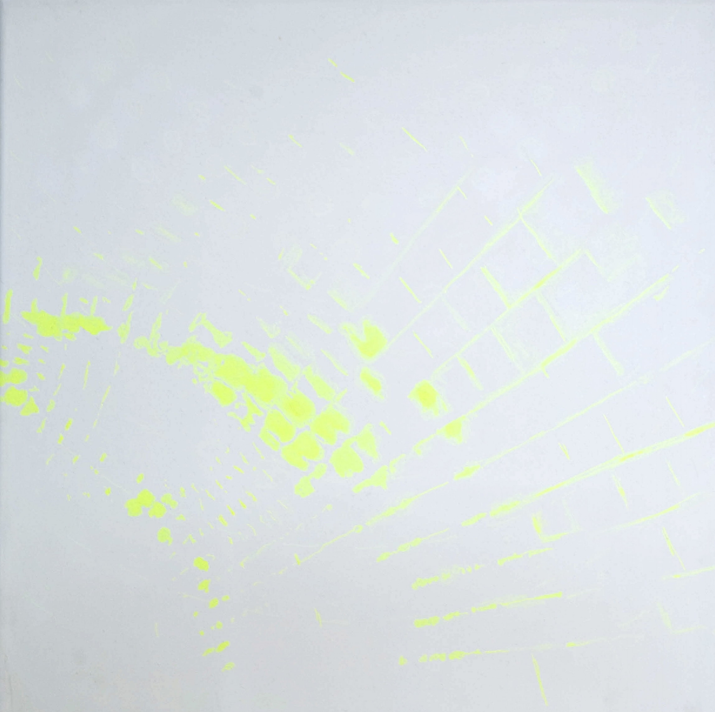 """""""Several seconds before"""",2009 acrylic on canvas 75x75cm"""