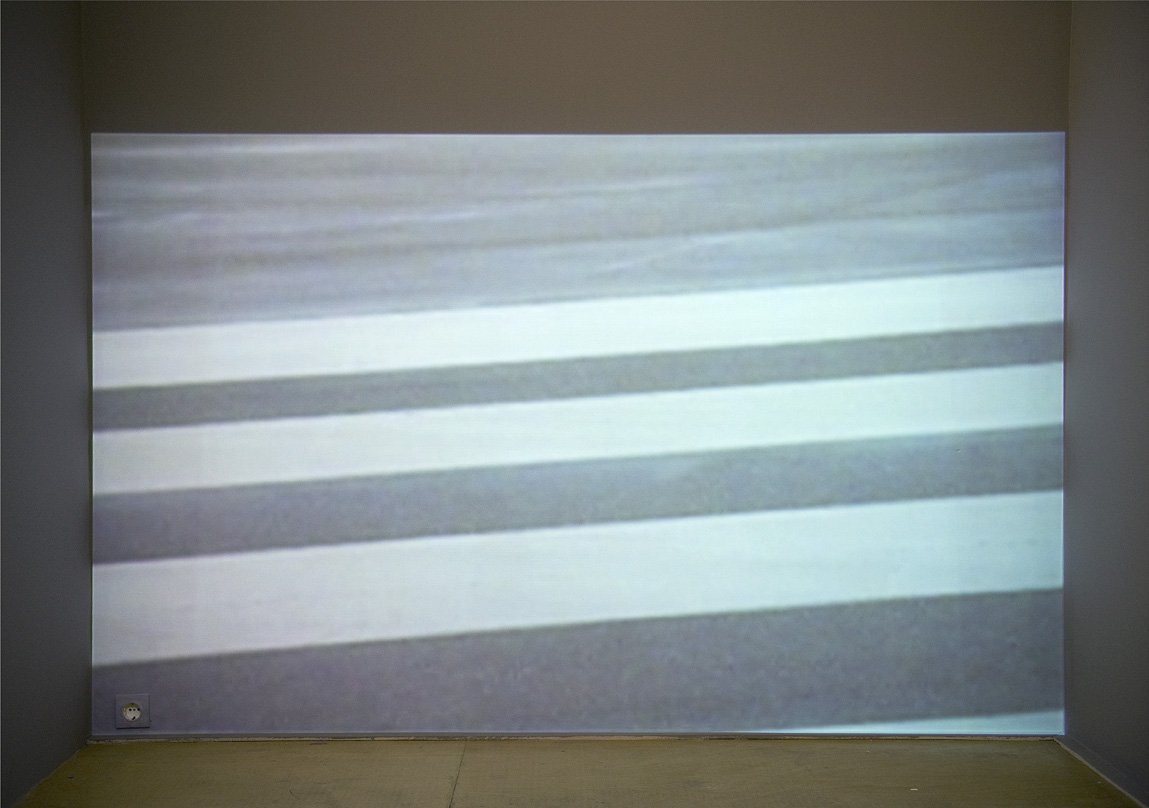 """""""Forever taking off"""", 2008 video projection 250x350cm"""