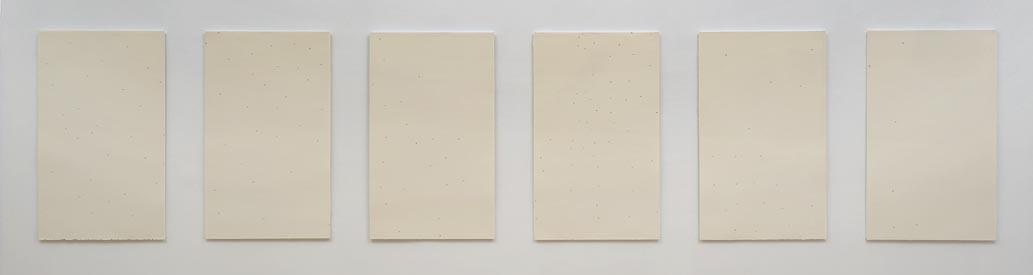 """""""Seascape""""1996,collage 6 panels 100x50cm each."""