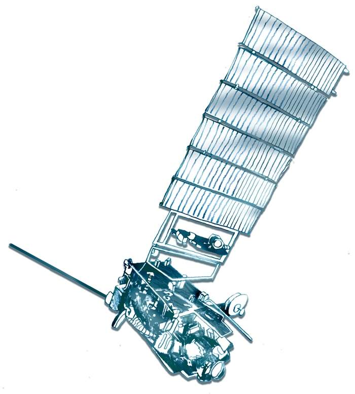 Drawing of a satellite by Bee Willey