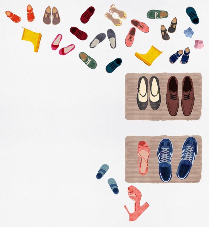 Women footwear art