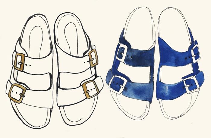 Stylish footwear artwork