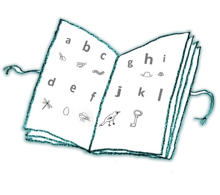 Basic English children book drawing