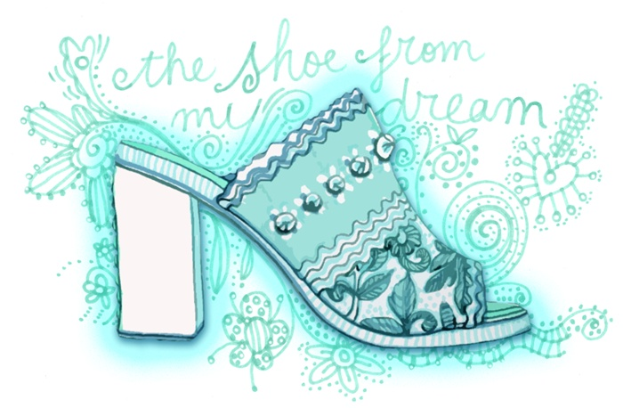 Dream shoes with embroidery work