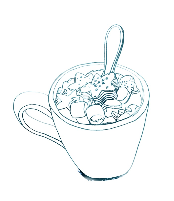 Cookies in a cup illustration