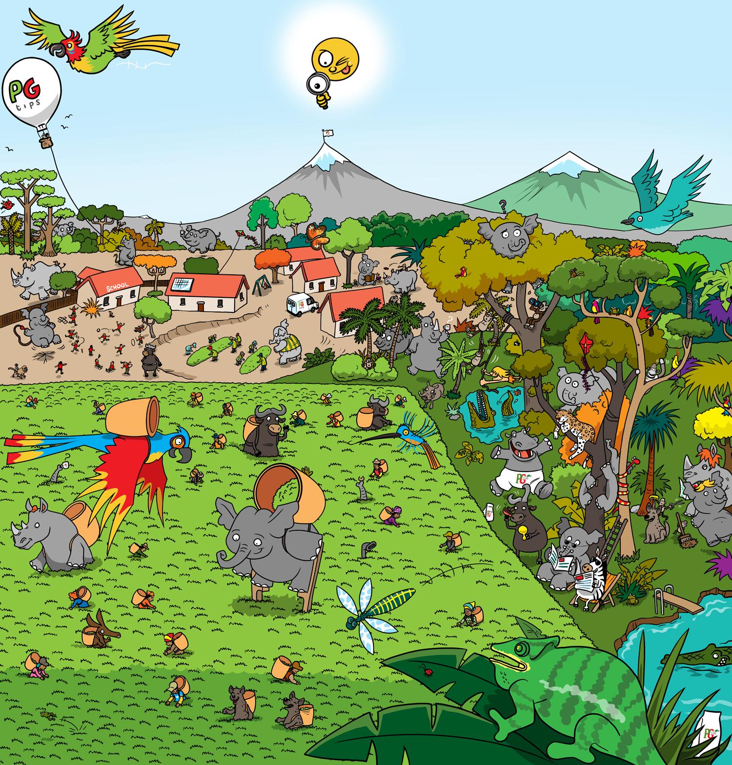 Animal kingdom illustration