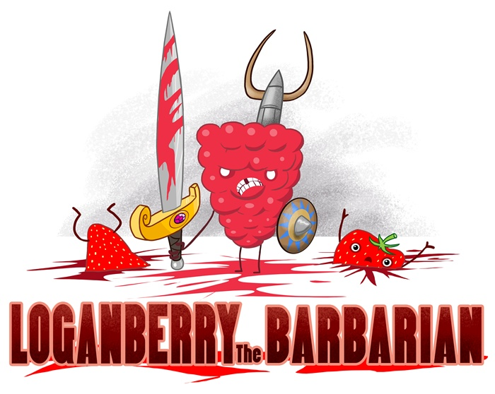 Children Illustration of Loganberry the Barbarian