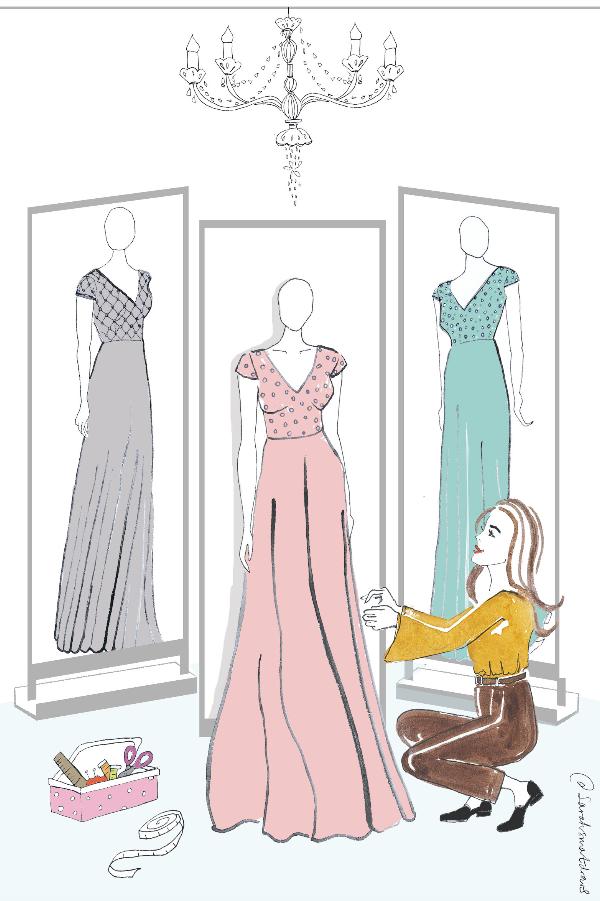 Fashionable lady dresses art