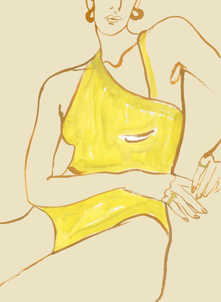 Illustration Of Yellow Swimwear