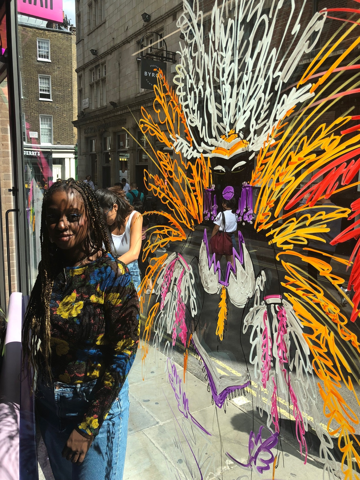 Anjelica Roselyn And Part of Her Carnival Mural