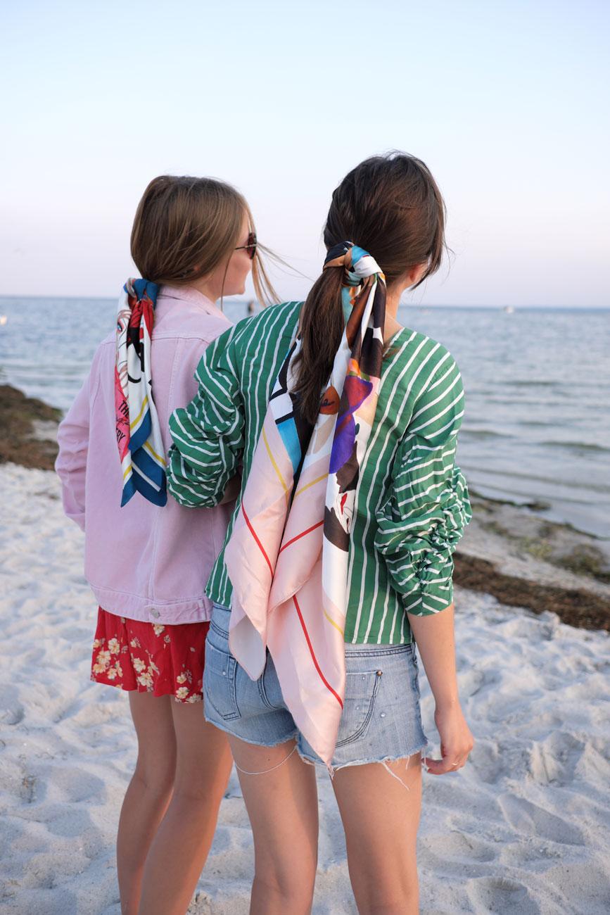 Fashion Ladies enjoying beach side