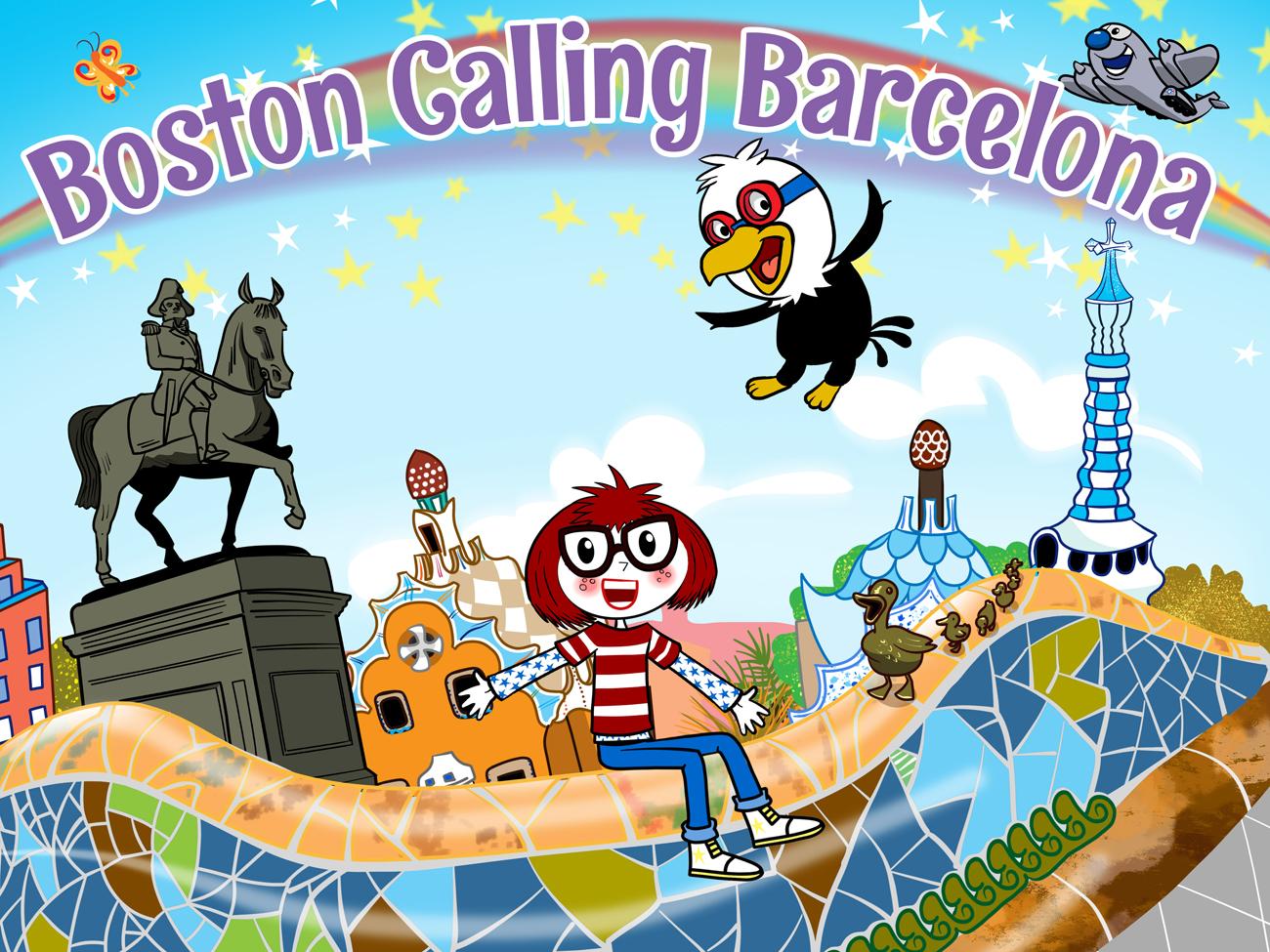 Boston calling barcelona vector art