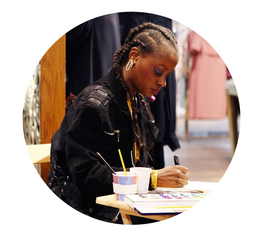 Anjelica Roselyn Womens Wear Designer Fashion Illustrator London Lipstick Of London