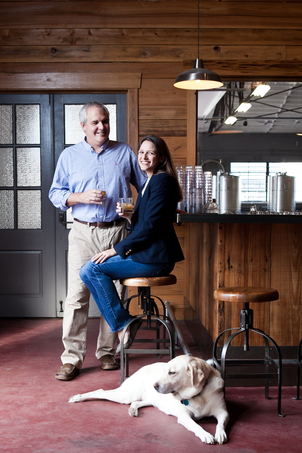 Scott Blackwell and Ann Marshall of High Wire Distilling Co.