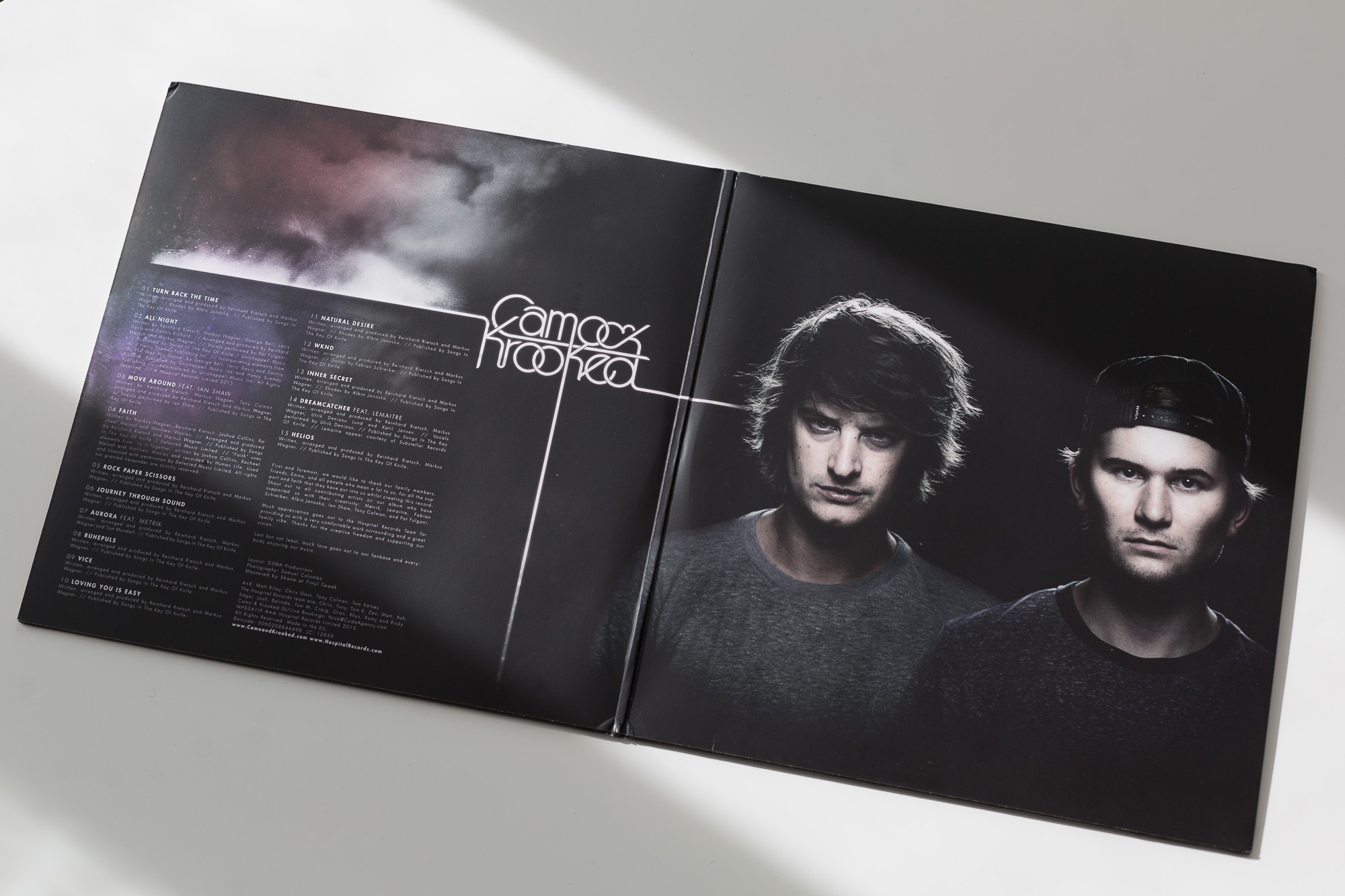 Camo & Krooked - Zeitgeist LP [Hospital Records]; Design by d3maproductions, Photography © Samuel Colombo