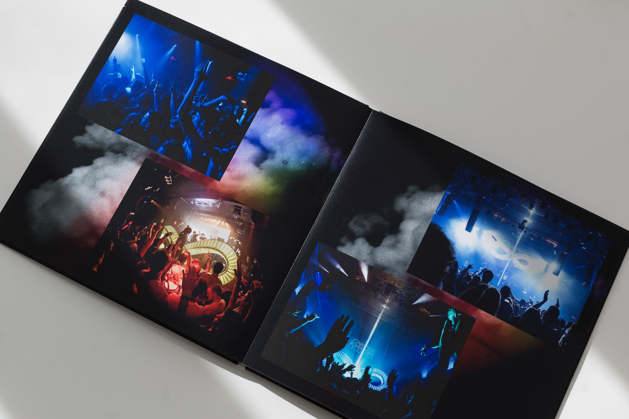 A page from the photo book of the Zeitgeist Tour