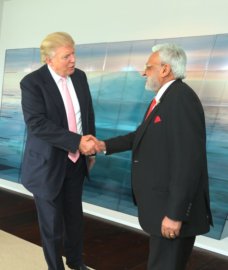 Donald Trump(L), Shalabh Kumar(R)