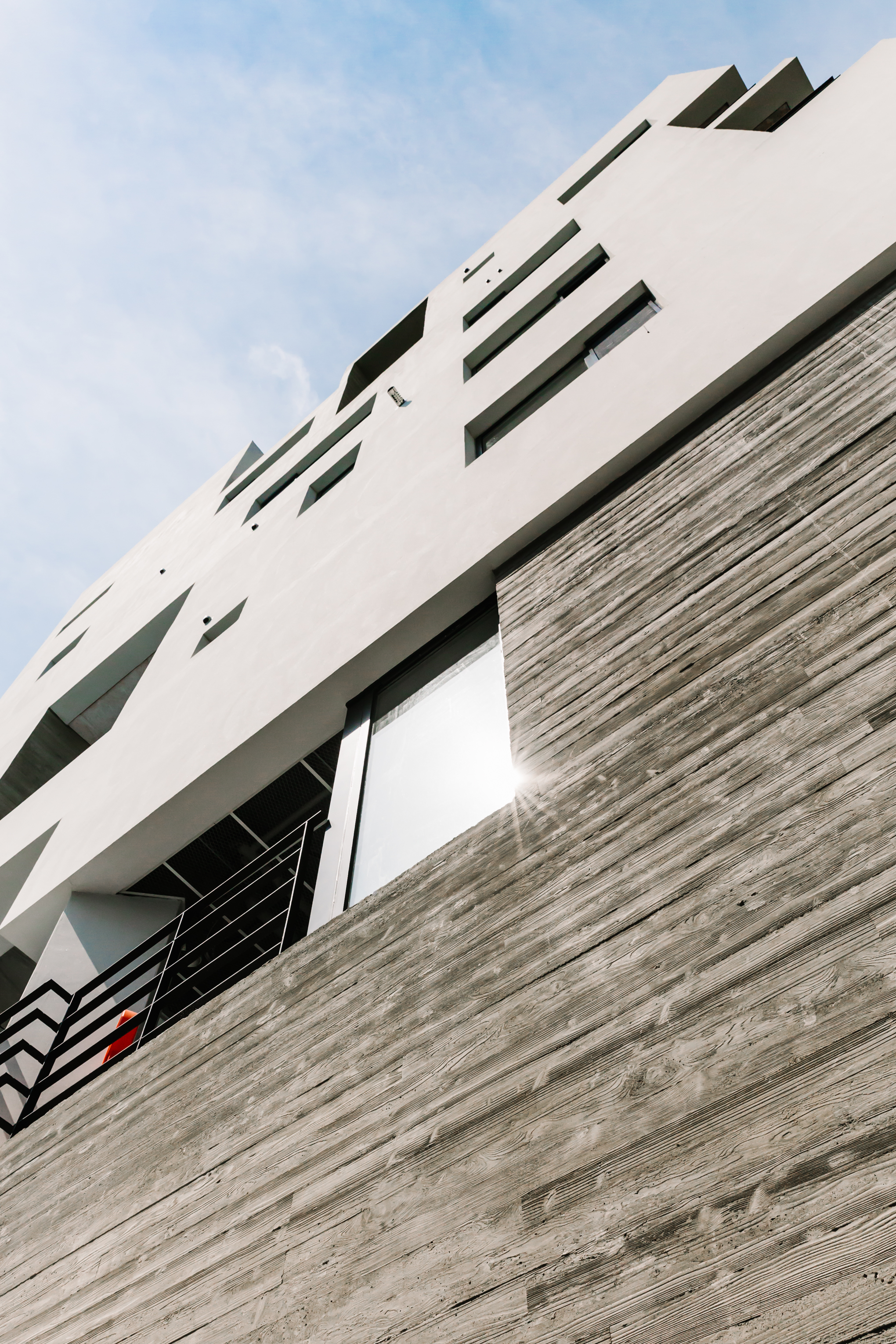 The four storey guesthouse is designed and built from scratch.