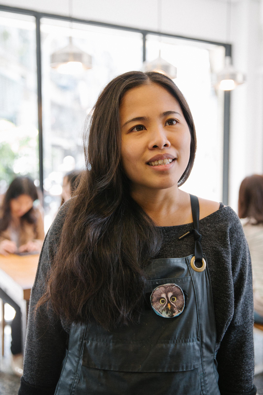 Fergie Lian, 27, enjoys the fun working culture in Great Start Breakfast Cafe.