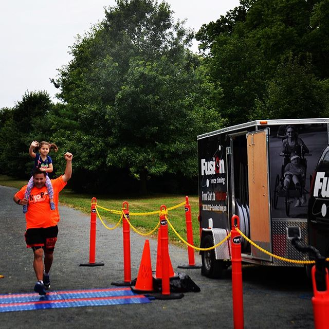 Thank you to @fusionracingde  for helping time and manage our First State Duathlon at @bellevuestatepark!