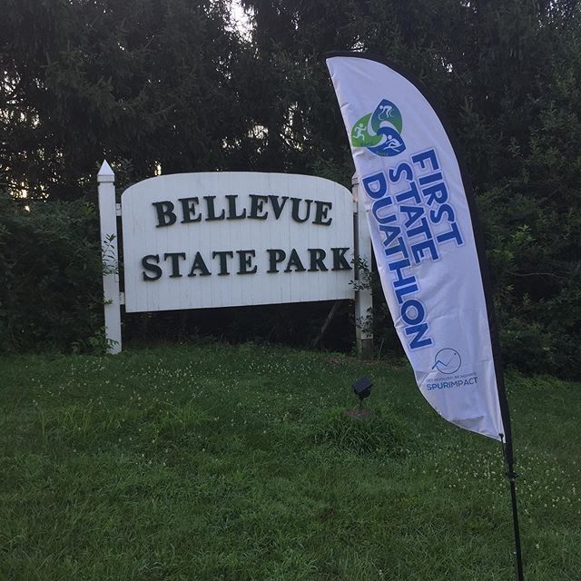 Banner up! Good luck to all of our competitors in today's First State Duathlon at @bellevuestatepark! #firststateduo #challengede #duathlon #RaceToRaise