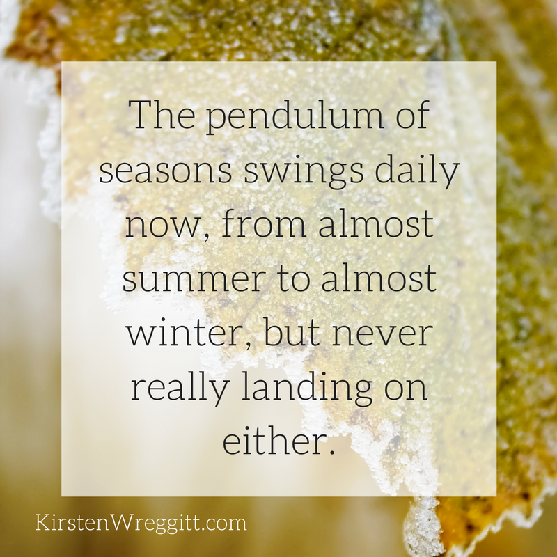 The pendulum of seasons swings daily now, from almost summer to almost winter, but never really landing on either..png