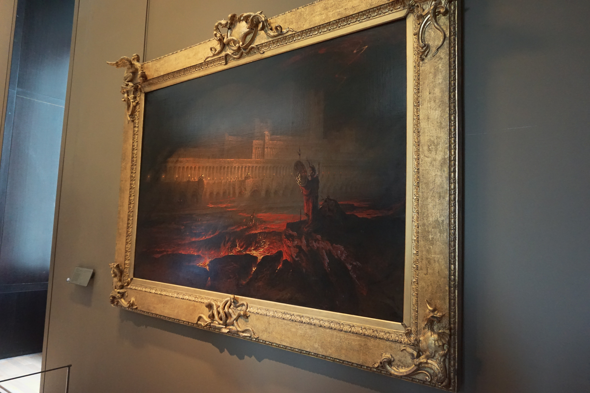 The extremely striking Pandæmonium by John Martin, which depicts a scene from John Milton's Paradise Lost. The detailing is incredible!
