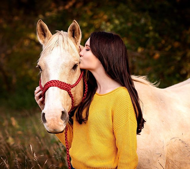 Madison & Aztec ♥️ - How gorgeous are they?! - - #horse #horsephotography #equinephotography #equine #horses #animals #palomino #seniorpictures #fall #minnesota #minnesotaphotographer #autumn #seniorportraits
