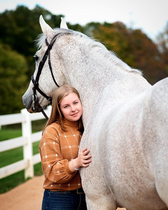 Carter & Winnie 🥰 - Love these two! I am a sucker for greys 😍 - - #horse #animals #bond #bestofequines #seniorpictures #horsephotography #equinephotography #equinephotographer #horselove