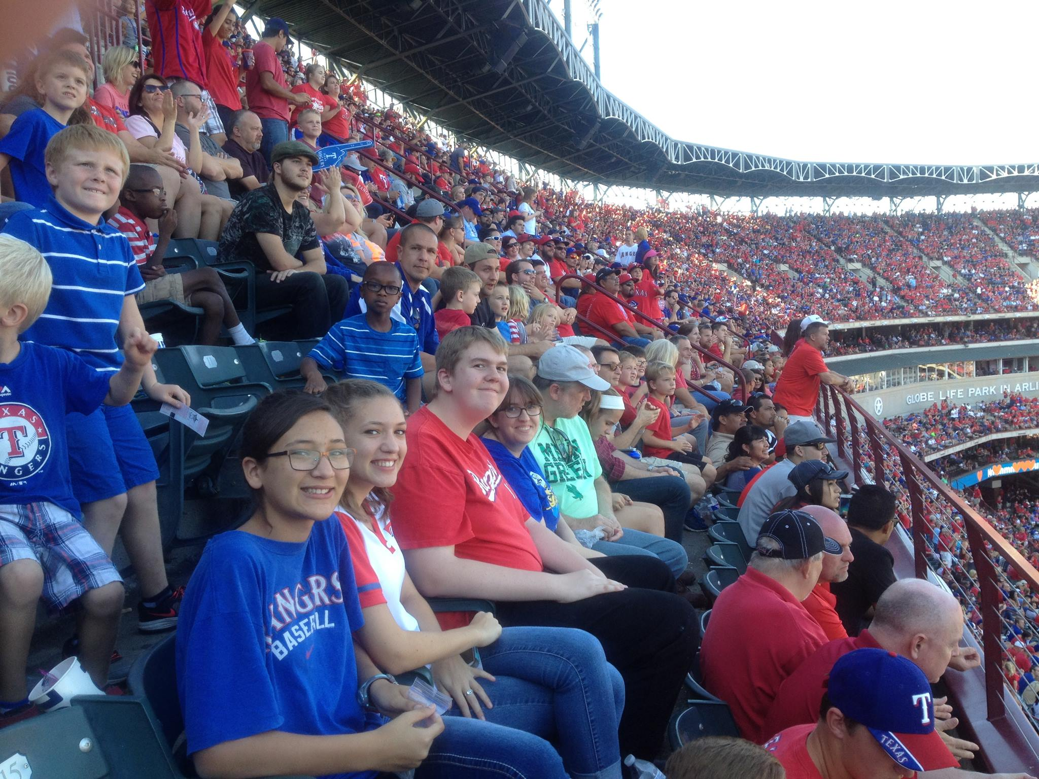 The Rockwall Pres Annual ManTime Father/Child Rangers Game.