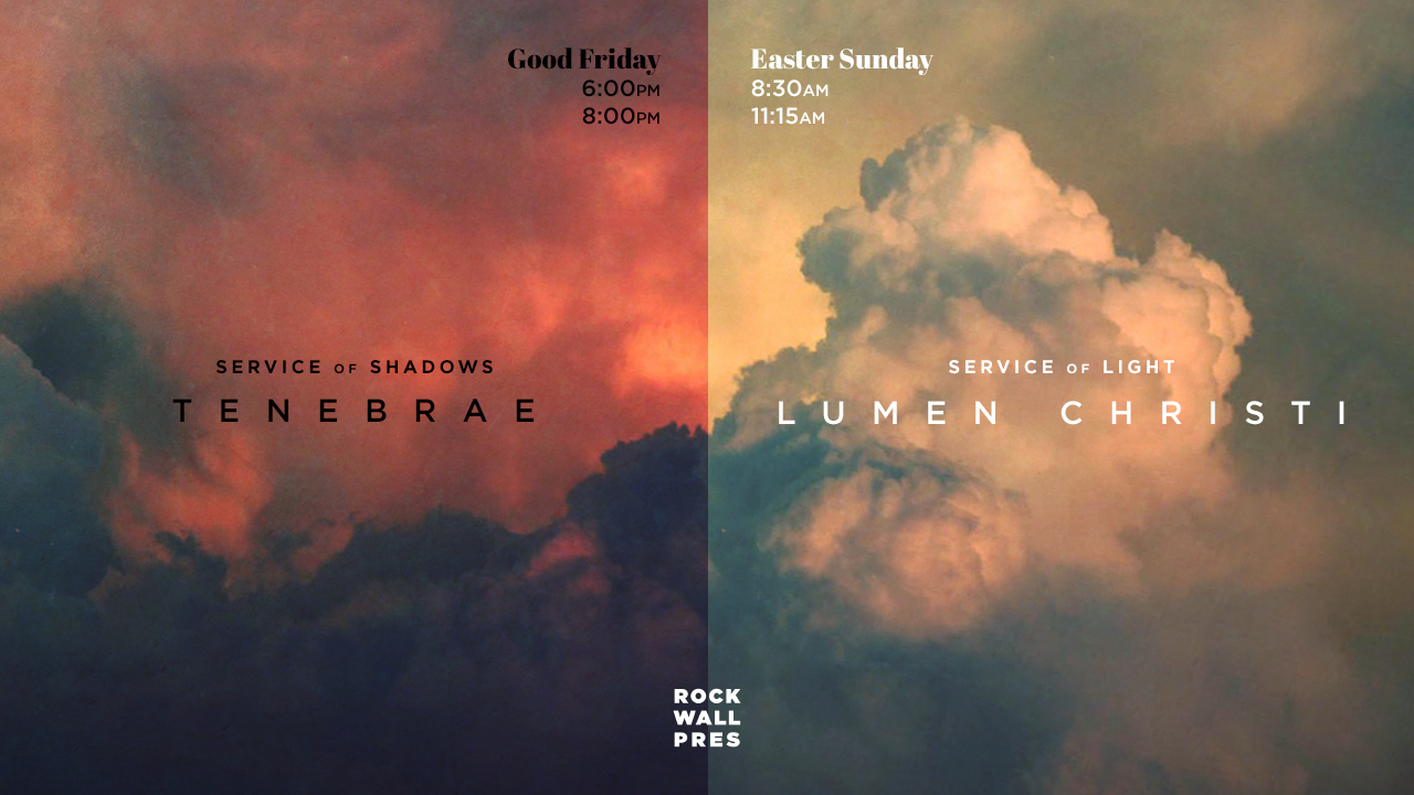 Tenebrae Service and Easter Service at Rockwall Pres 2018.