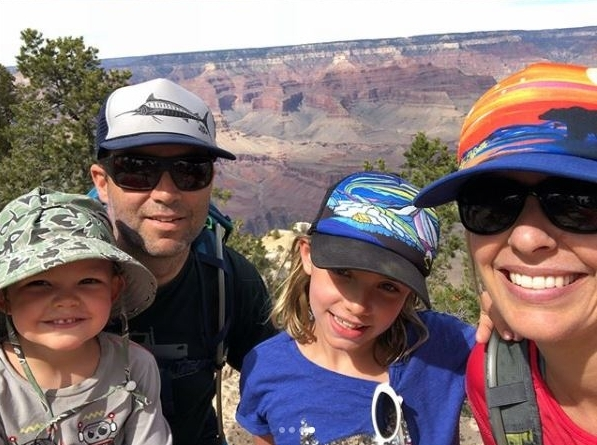 The road-warriors at the Grand Canyon.