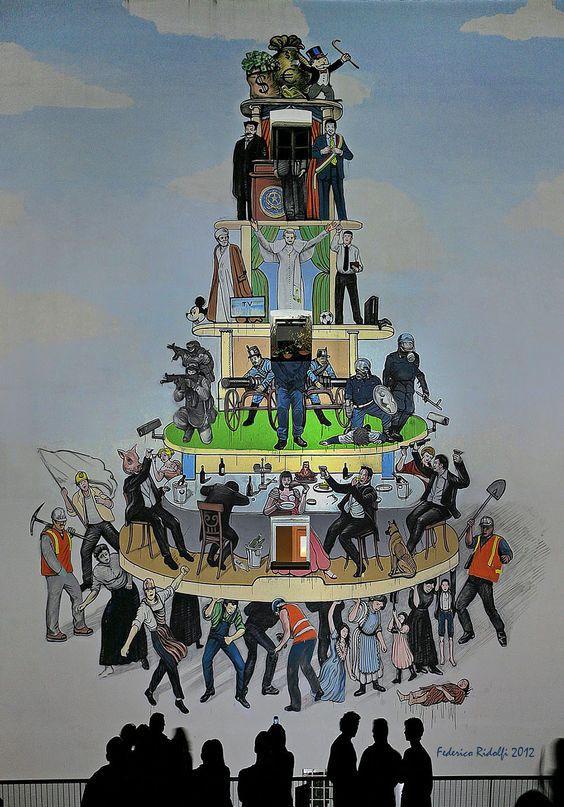 Modern Pyramid of Capitalist System, Federico Ridolfi, 2012.