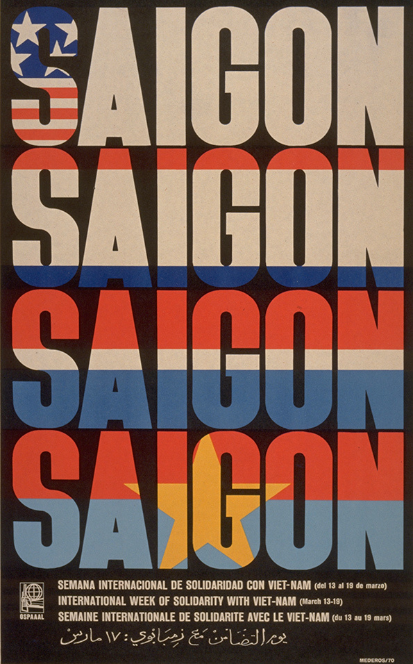 René Mederos, Saigon / Week of solidarity with Vietnam, 1970