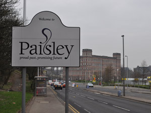Paisley , in West Scotland, was a centre for textiles and this is where paisley designs were produced during the industrial revolution. In fact, The Scottish town  is now bidding to be UK City of Culture for 2021 .