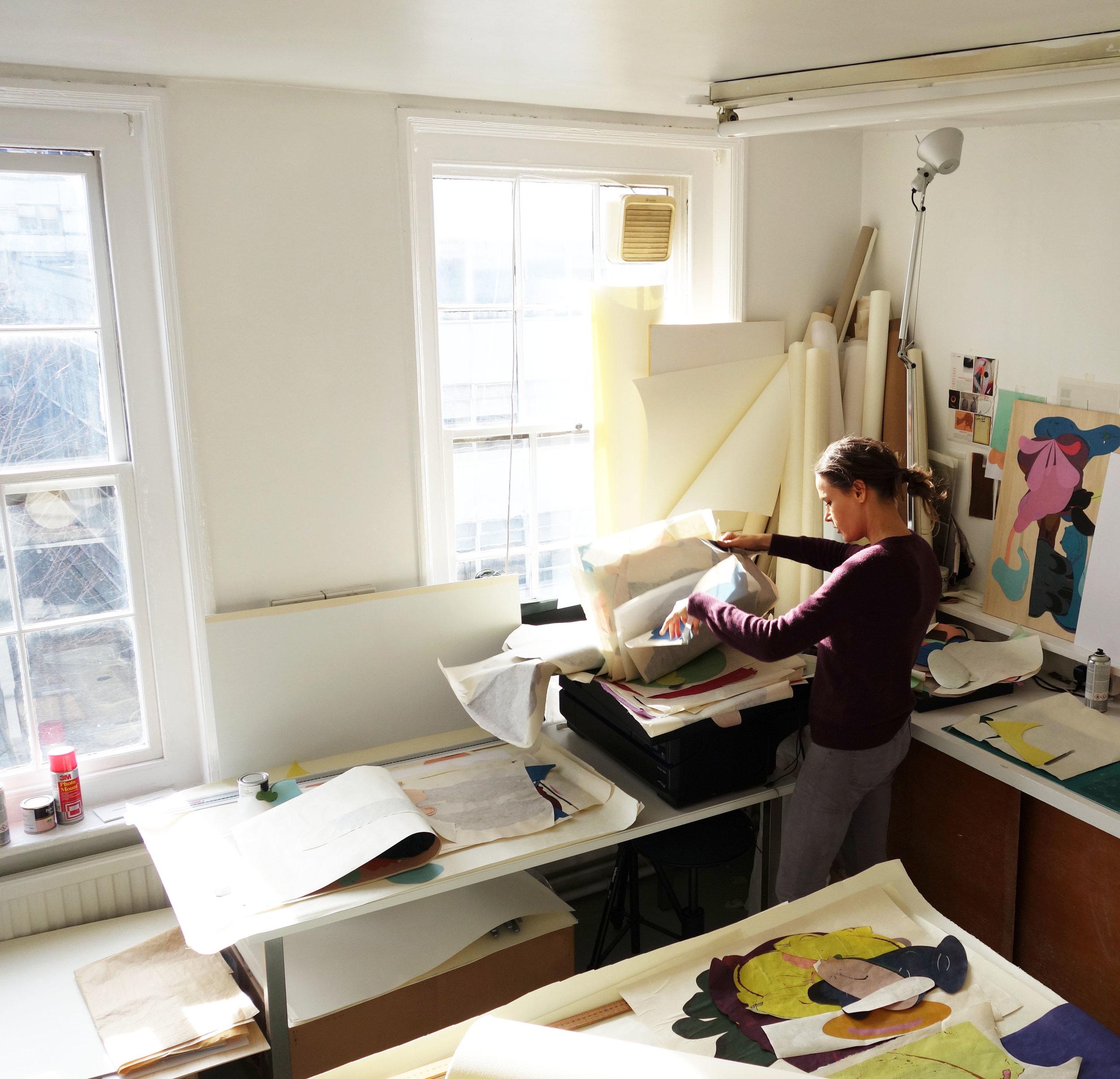 Katja in her Studio in Hackney, London