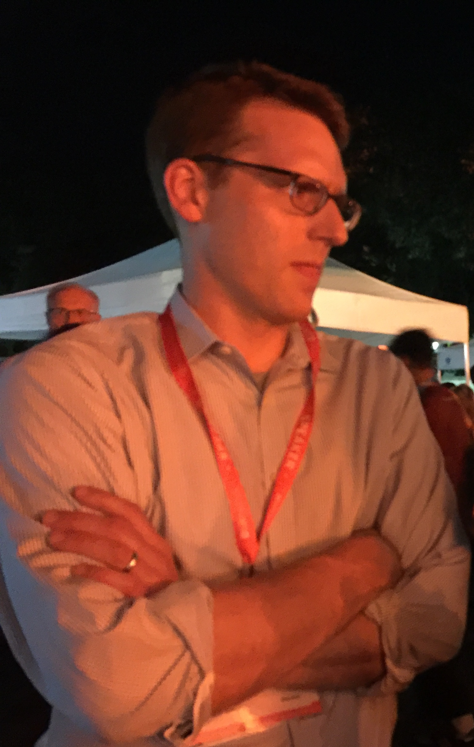 September 2017 - Excited to talk with the Washington Post's David A. Fahrenthold, who won a Pulitzer Prize for his dogged reporting on President Trump. David is an honorary