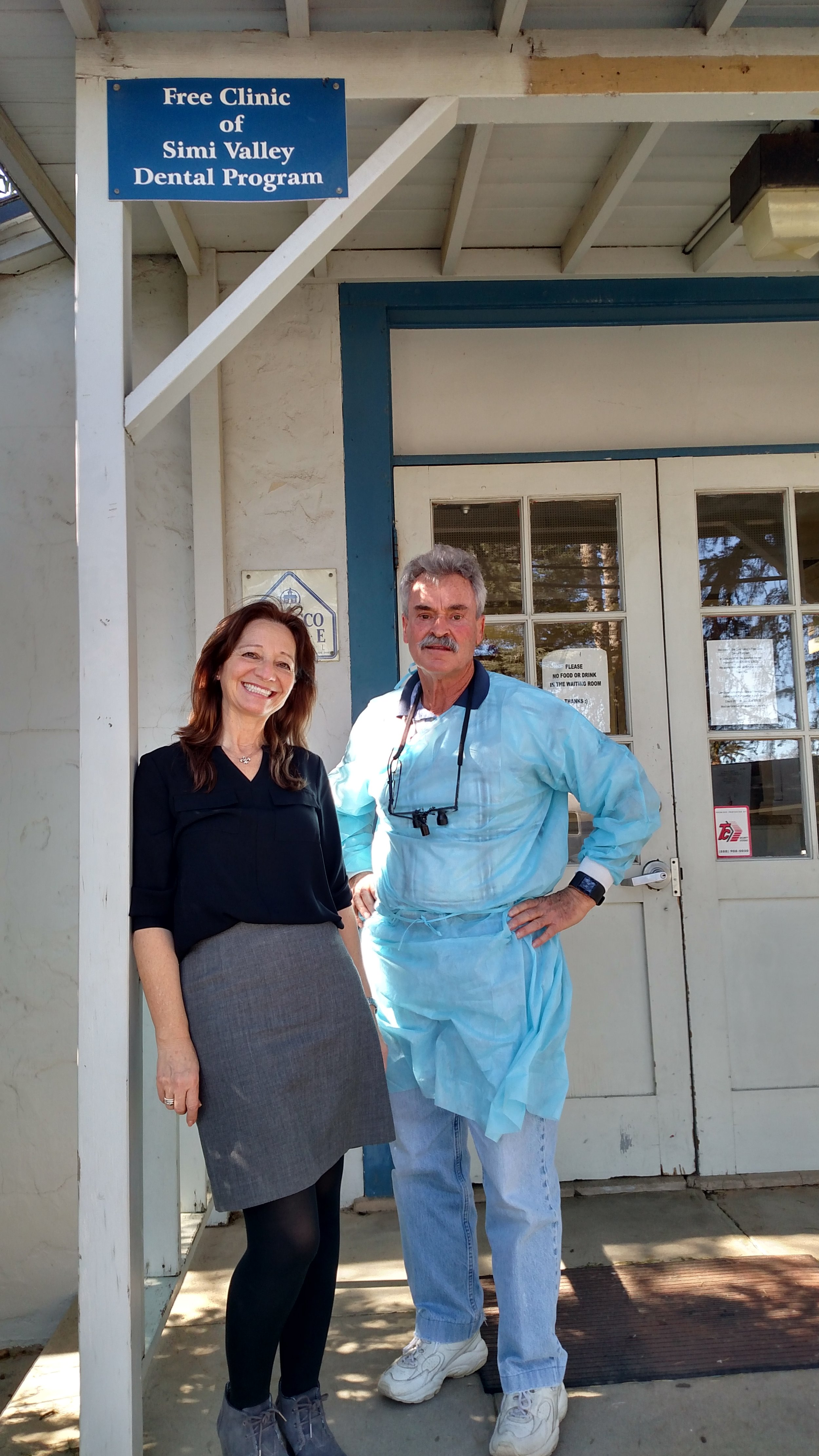 Dr. Fanning with Olga, office manager at Free Clinic of Simi Valley Dental Program.