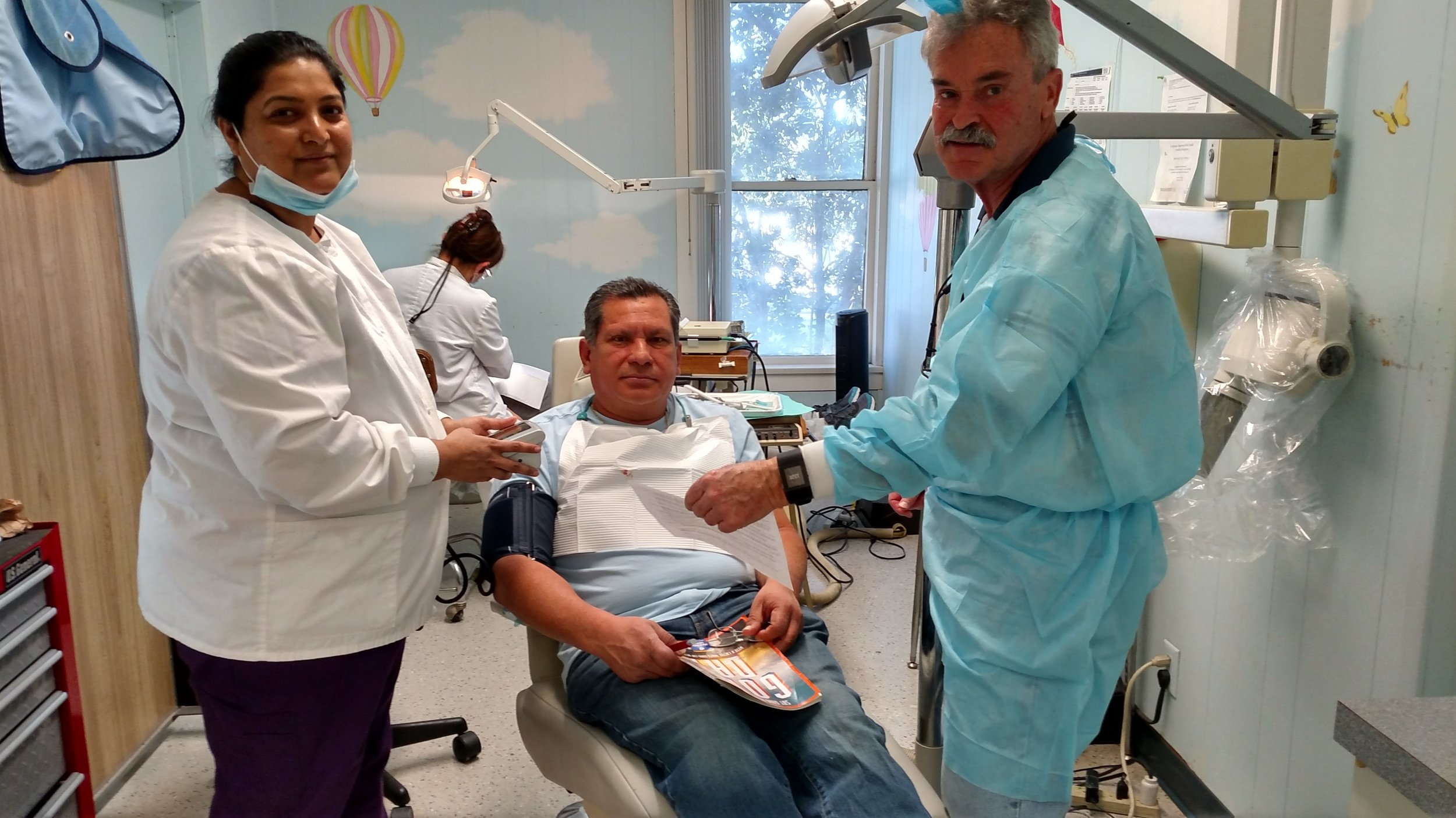 Dr. Fanning with the staff at Free Clinic of Simi Valley Dental Program