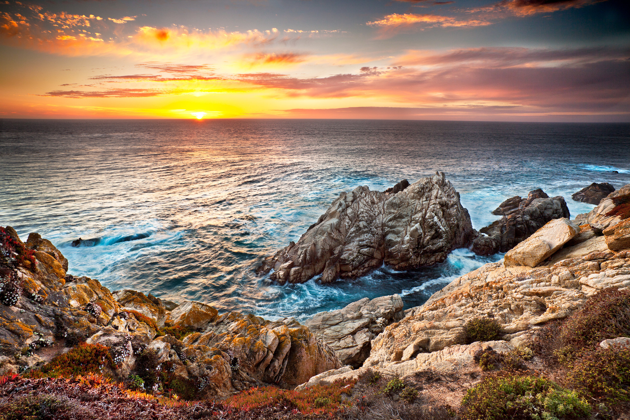 Pinnacle Rock Sunset - Point Lobos (6243)